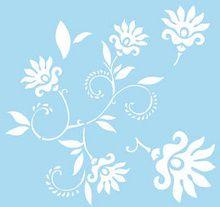 Marabu 33 x 33cm Dancing Flowers Stencil