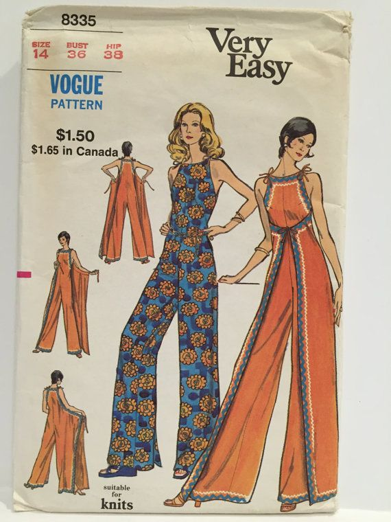 Vintage 1960s Very Easy Vogue 8335 Wrap Around von MissKittiwake ...