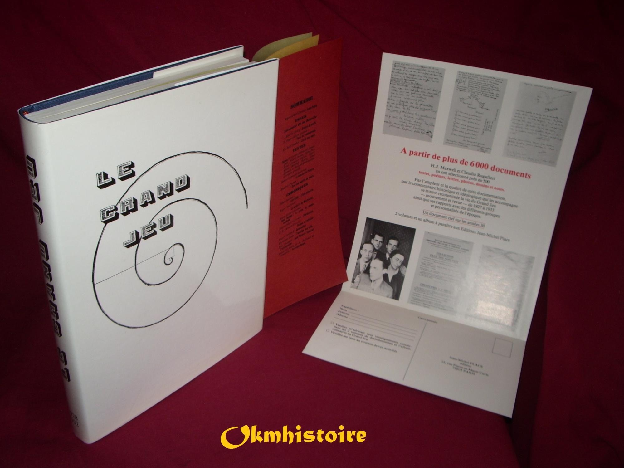 Le Grand Jeu Collection Complete 1928 1932 N 1 A 4 En 1 Seul Volume Relie By Gilbert Lecomte Rene Daumal Sous La Dir Book Design Bookish Book Cover
