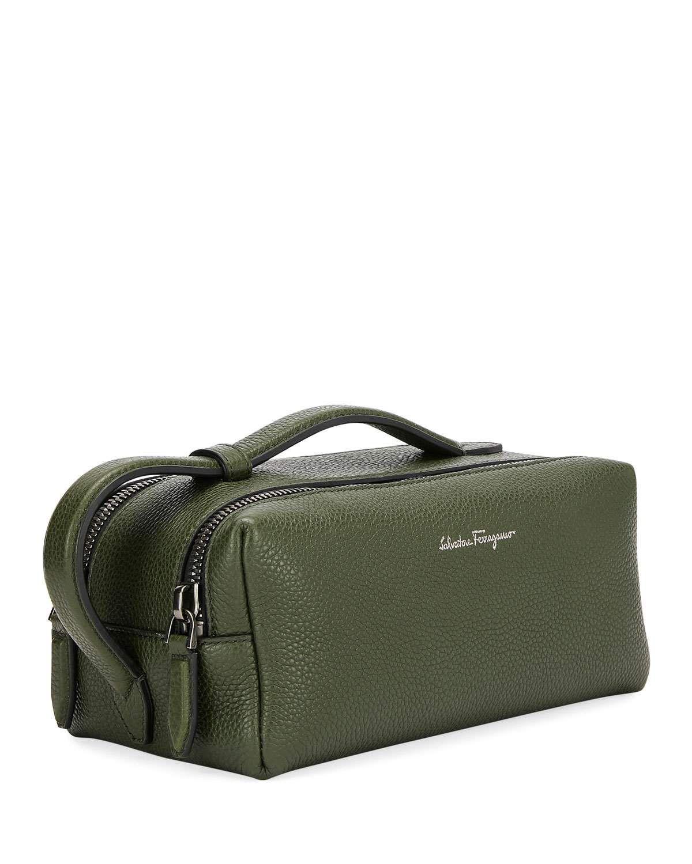 Salvatore Ferragamo Men s Firenze Leather Toiletry Bag   Products in ... ef8264c777