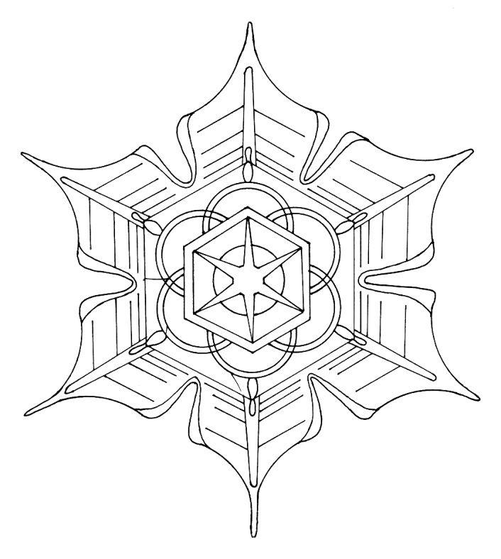 Mandala copo de nieve 3 | Mandalas, zentangles and others ...