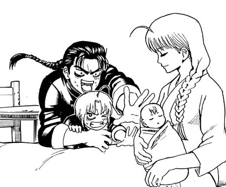 Gintama the yato family all happy and shit im gonna cry
