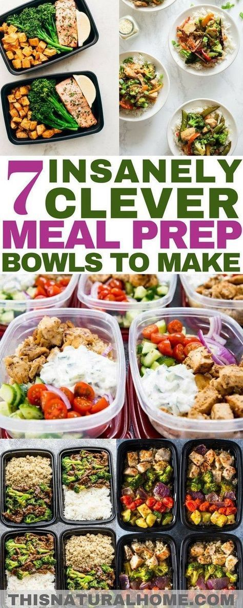 Insanely Clever Meal Prep Bowls to Make