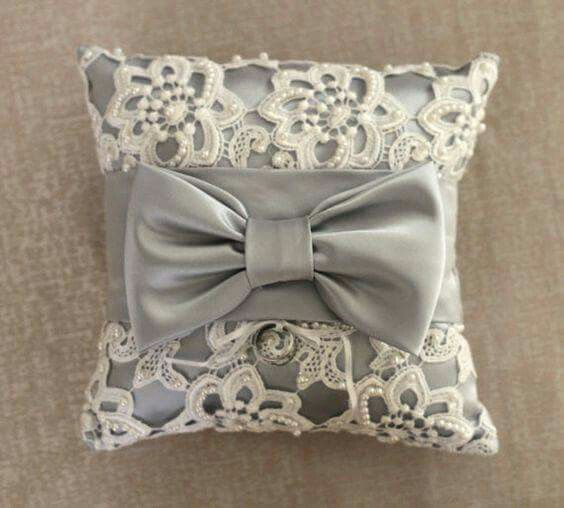 Silver Lace Ring Bearer Pillow with Pearl Beading and Bow & Pin by sana sheikh on Cushionzzzz \u0027n\u0027 Pillowzzzz | Pinterest ... pillowsntoast.com