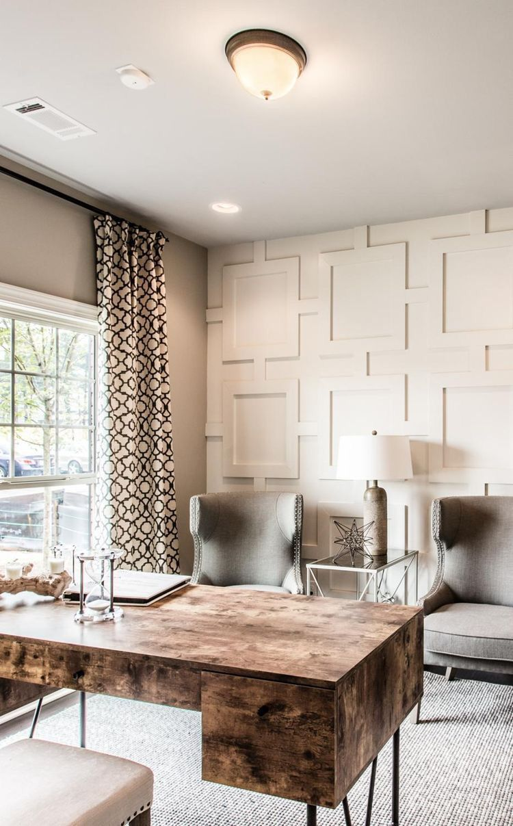 Neutral home office ideas Built Neutral homeoffice Pinterest Neutral homeoffice Home Office In 2019 Home Office Design Home