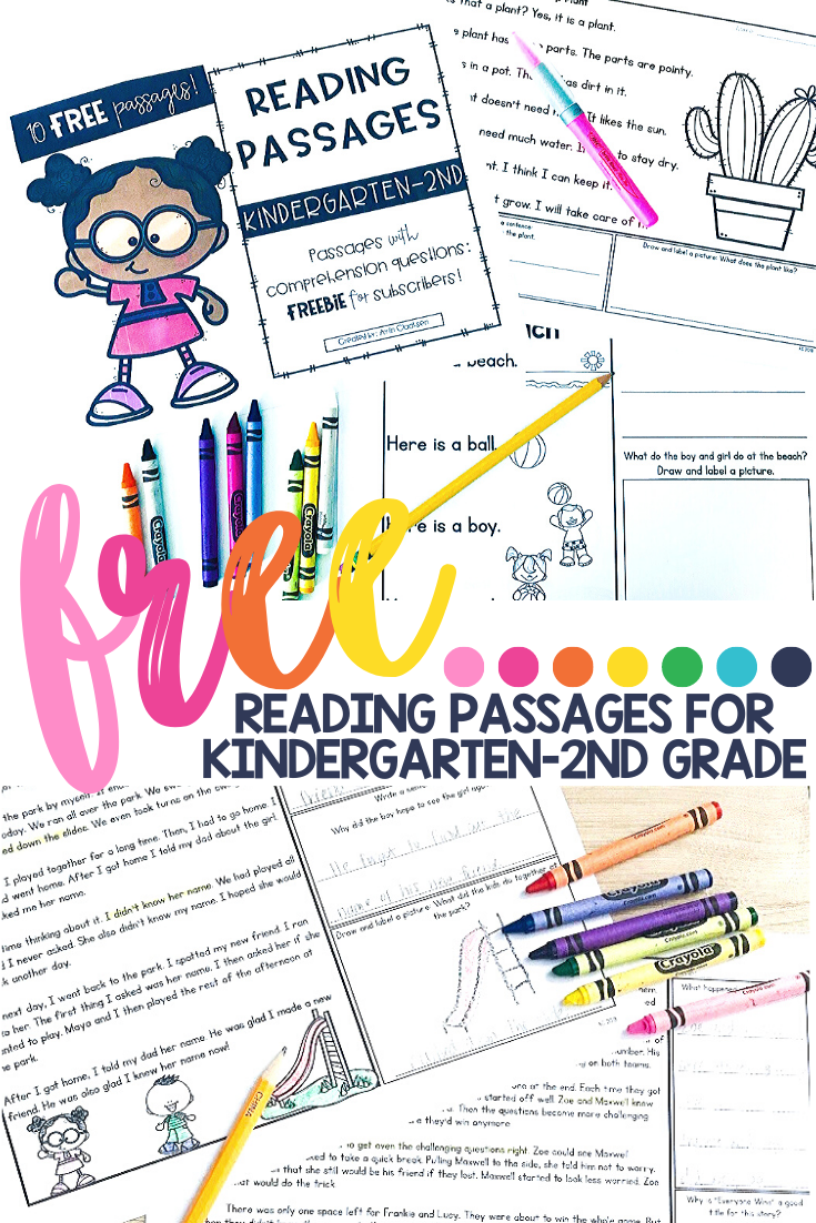 Free Reading Passages For K 2 Free Reading Passages Reading Passages Literacy [ 1102 x 735 Pixel ]