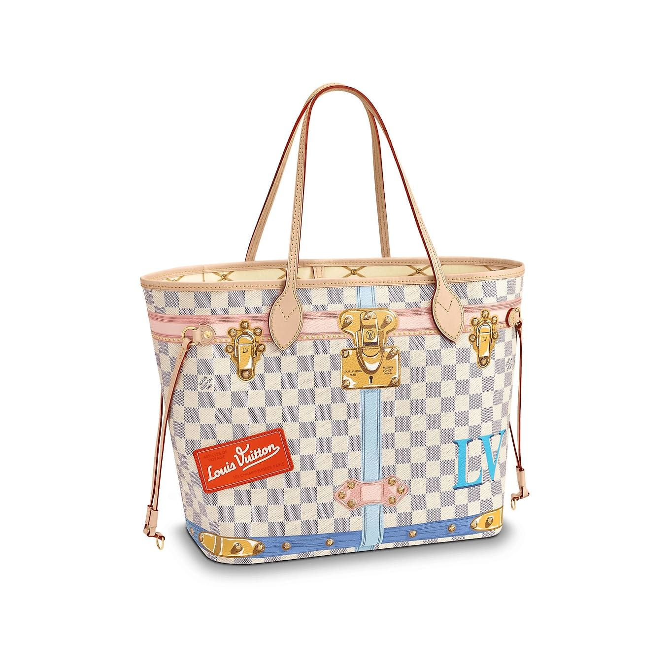 Neverfull MM Lona Damier Azur Mujer Bolsos   LOUIS VUITTON   Cool ... ca1f0f8de87