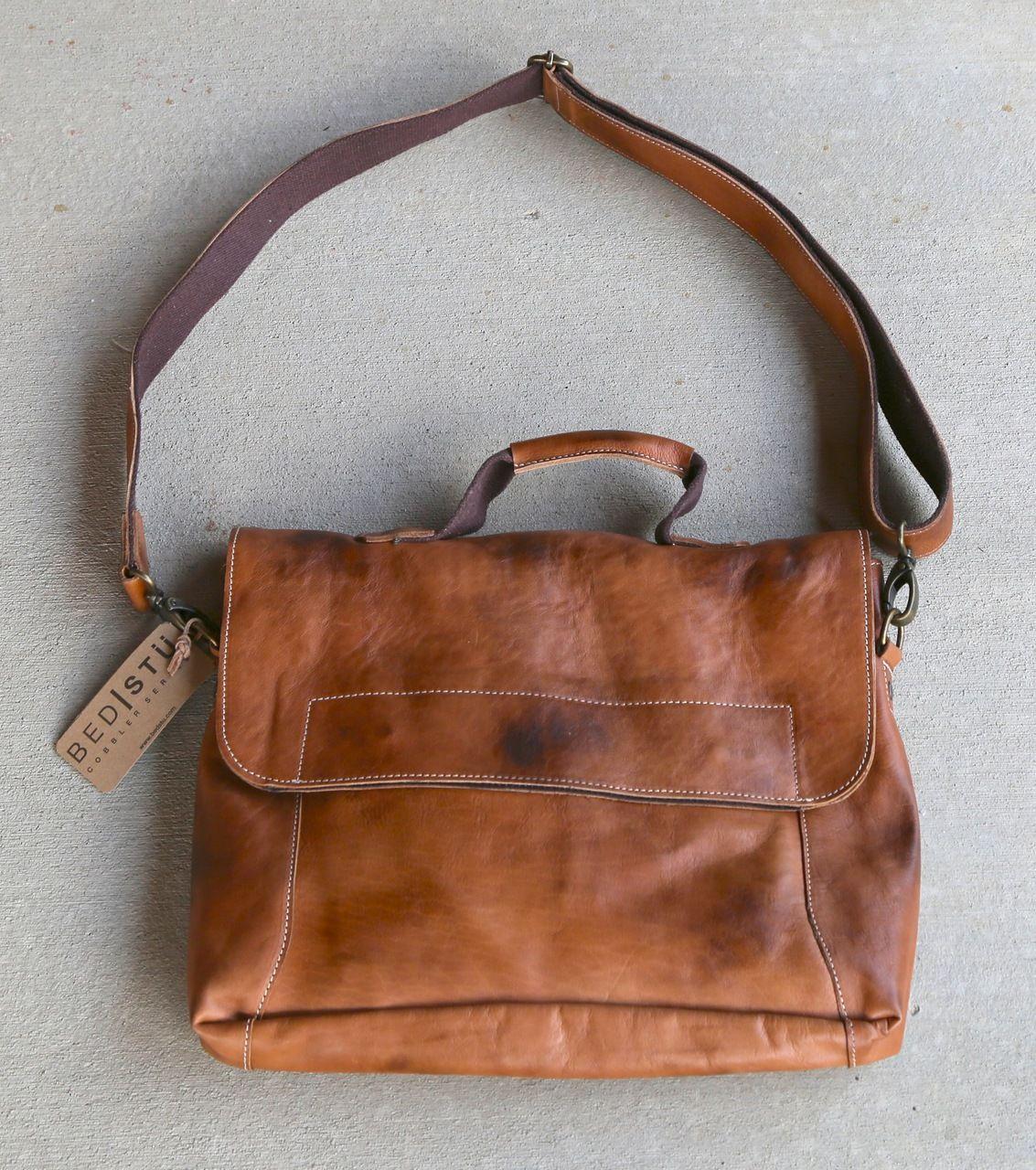 rivertrail mercantile - bed stu hampton tan handbag, $260.00 (http