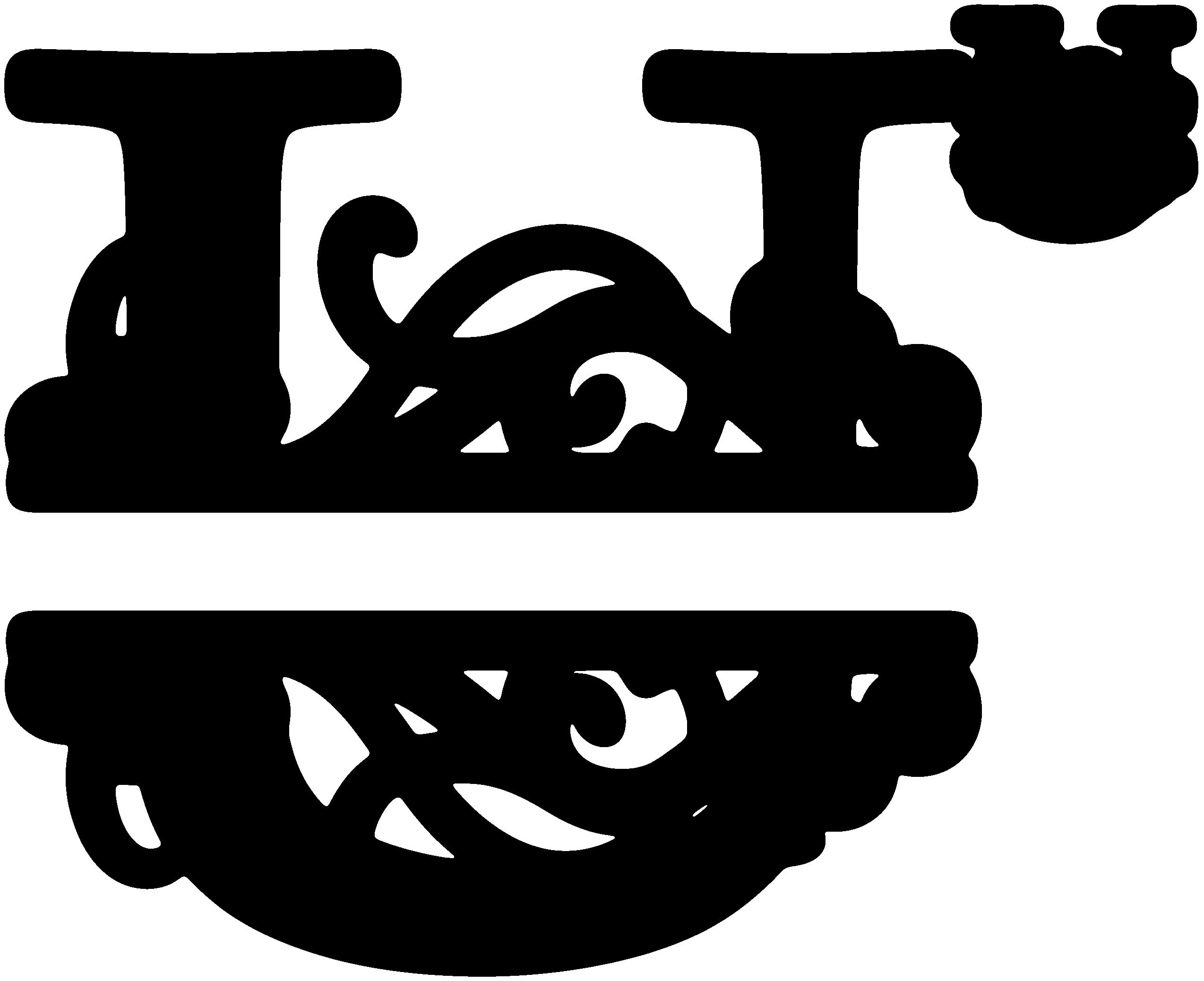 """U"" Split Monogram Monogram letters, Monogram tile, Monogram"