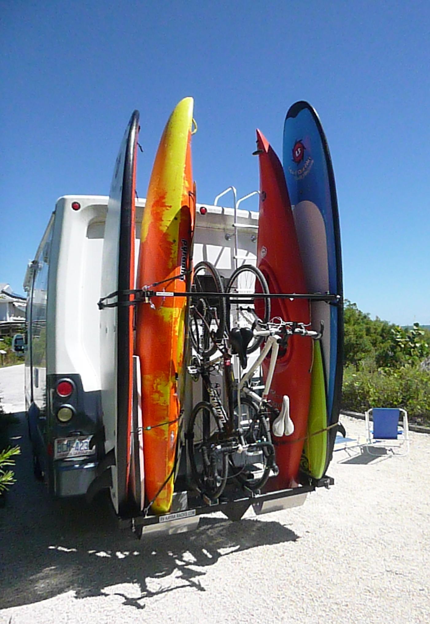 Welcome To Rvkayakracks Com The First Vertical Rv Kayak Rack