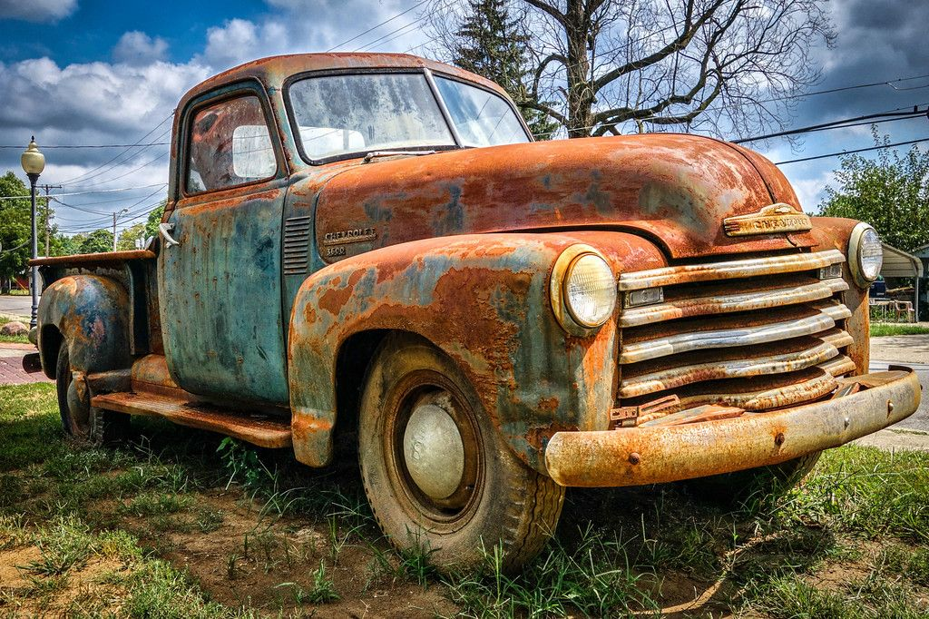 Rusty 1950 Chevy Truck | Crafts | Pinterest | Cars, Abandoned cars ...