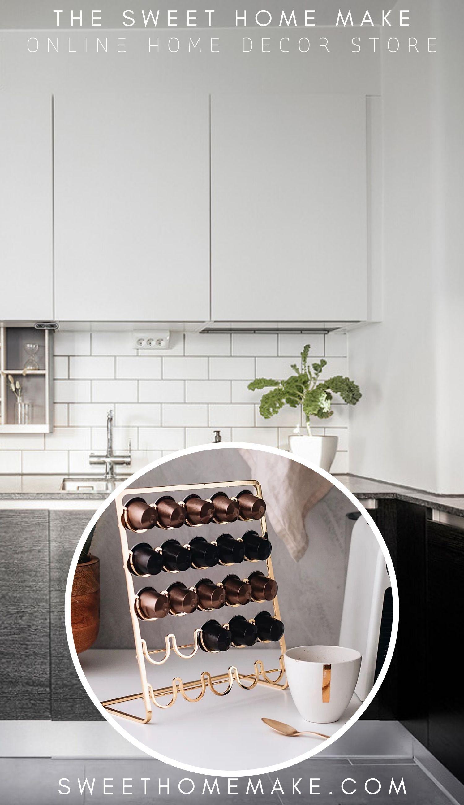 Photo of Nespresso Kapselhållare till Mässing och Koppar Inredningsdetaljer