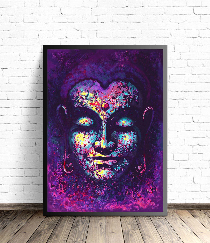 Buddha Poster Meditation Art Yoga Home Decor Buddha Wall Art