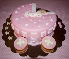 Torta cochecito rosa