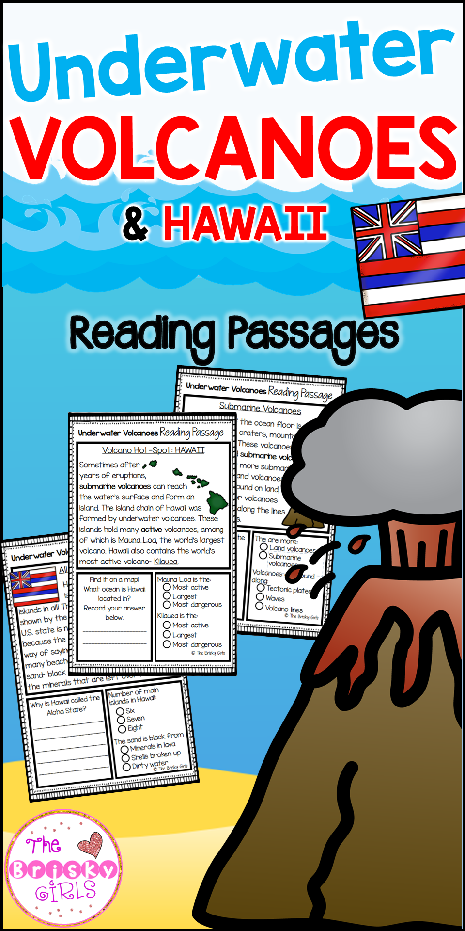 worksheet Volcanoes Reading Comprehension Worksheet underwater volcano reading passages classroom resources passages