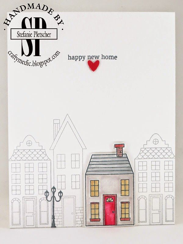 the crafty medic happy new home stampin up holiday home stamp