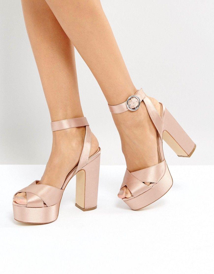 e601511d966 Office Harley Satin Platform Sandals - Pink