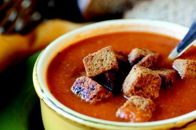 Fresh Basil and Tomato soup