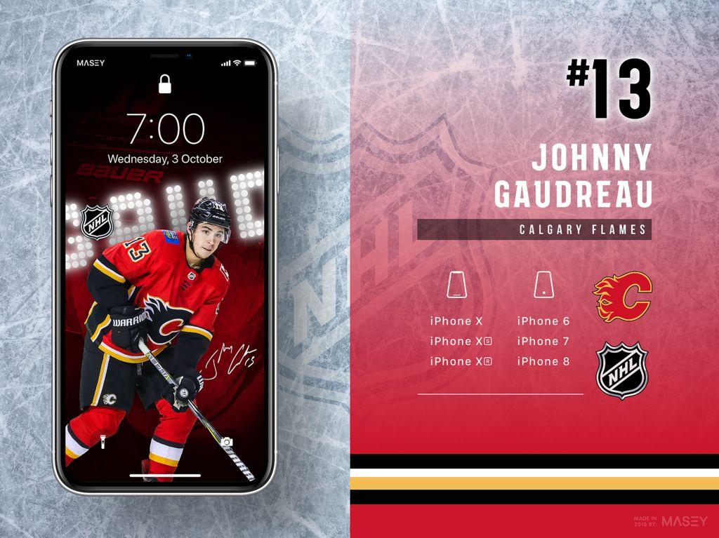 Johnny Gaudreau Calgary Flames Iphone Wallpaper Iphone