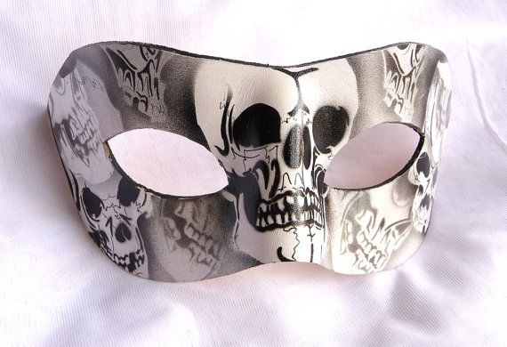 Black & White Genuine Leather Unique Skull by VeniceMaskedBall, £21.95