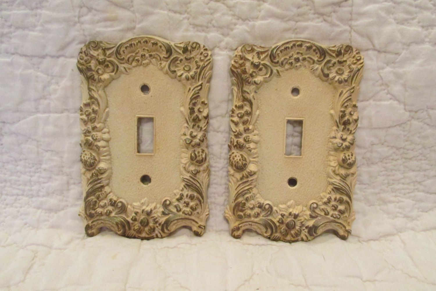 Vintage Light Switch Plate Covers 2 Vintage Light Switch Covers Single Switch Hollywood Regency