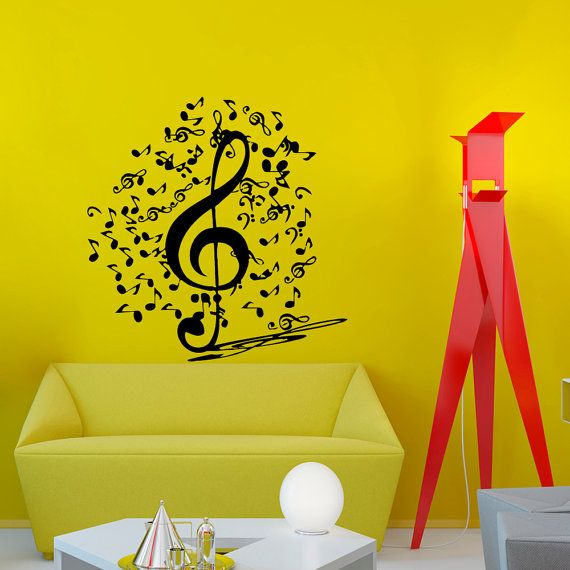Musical Treble Clef Wall Decal Vinyl Sticker Wall Decor Home ...