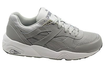 Puma  trinomic r698 core  leather men trainers running  shoes grey 360601  03 u40 350f3b965