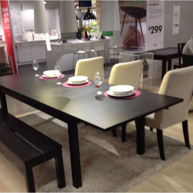 Bjursta Dining Table Ikea With 2 Pull Out Leaves Seats 4 Makes It Possible To Adjust The Size According Need