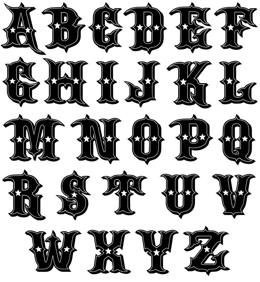 tattoo letter fonts fonts font designs free 45252 borders 12274