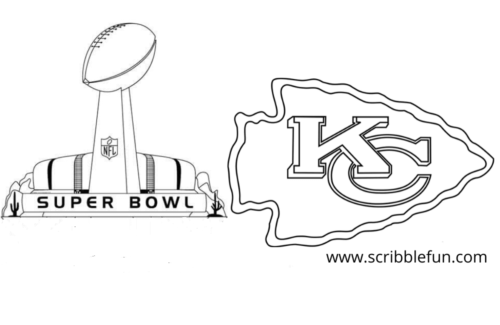 Chiefs Super Bowl Coloring Page In 2020 Chiefs Super Bowl Super Bowl Coloring Pages