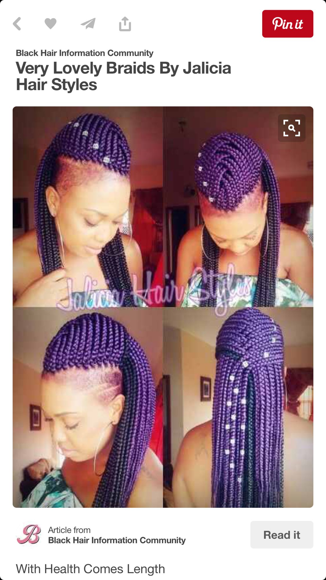 Mohawk box braids purple pinterest braids hair and hair styles