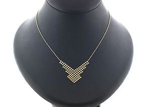 Beaded Mesh Necklace in 14kt Yellow Gold $219