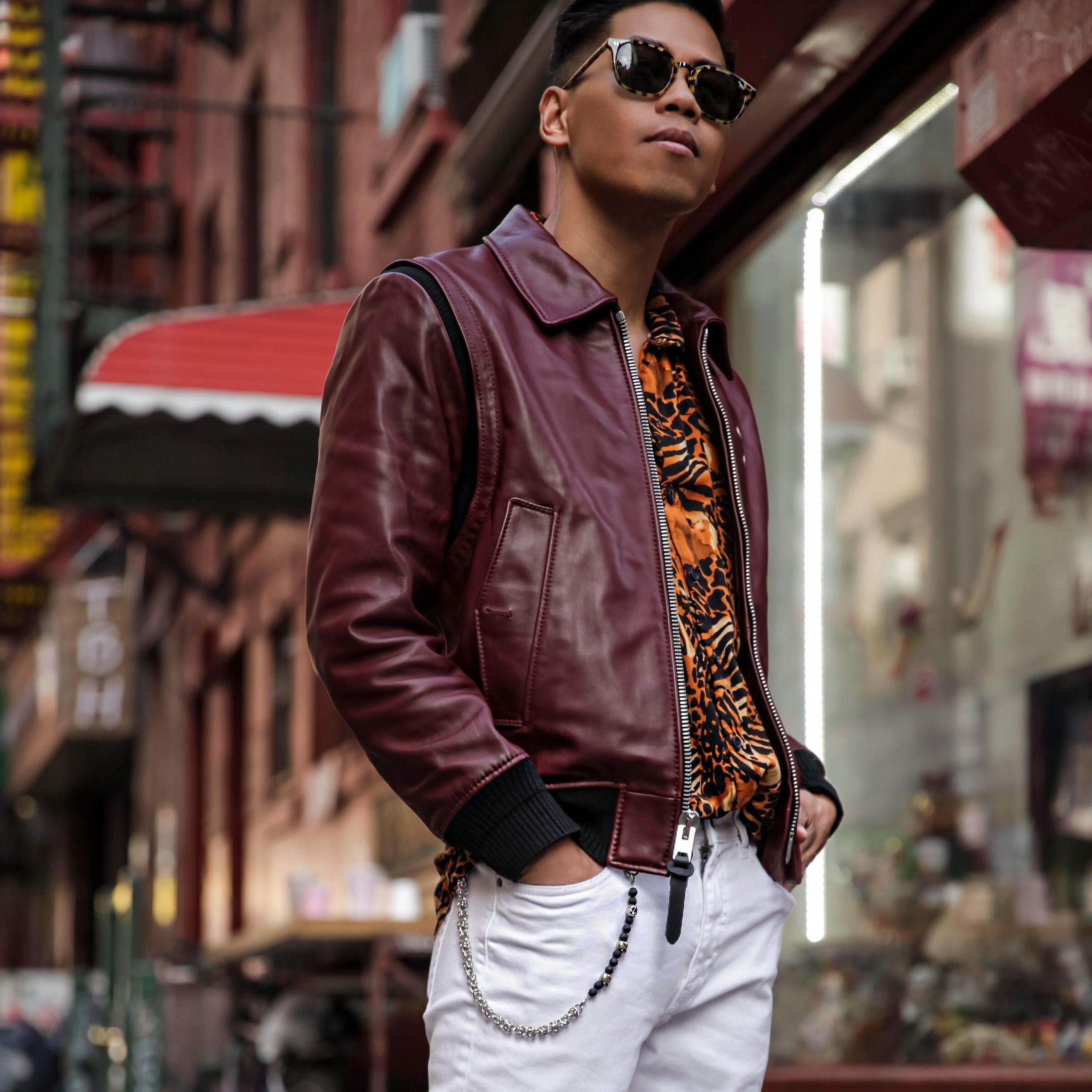 Coach Mens Ss17 Jacket Street Style Blogger Blogger Street Style Leather Bomber Jacket Street Style [ 2400 x 2400 Pixel ]