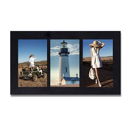 Adeco Pf0269 Decorative Black Wood Wall Hanging Picture Photo Frame