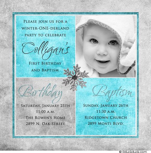 1st birthday and baptism invitations