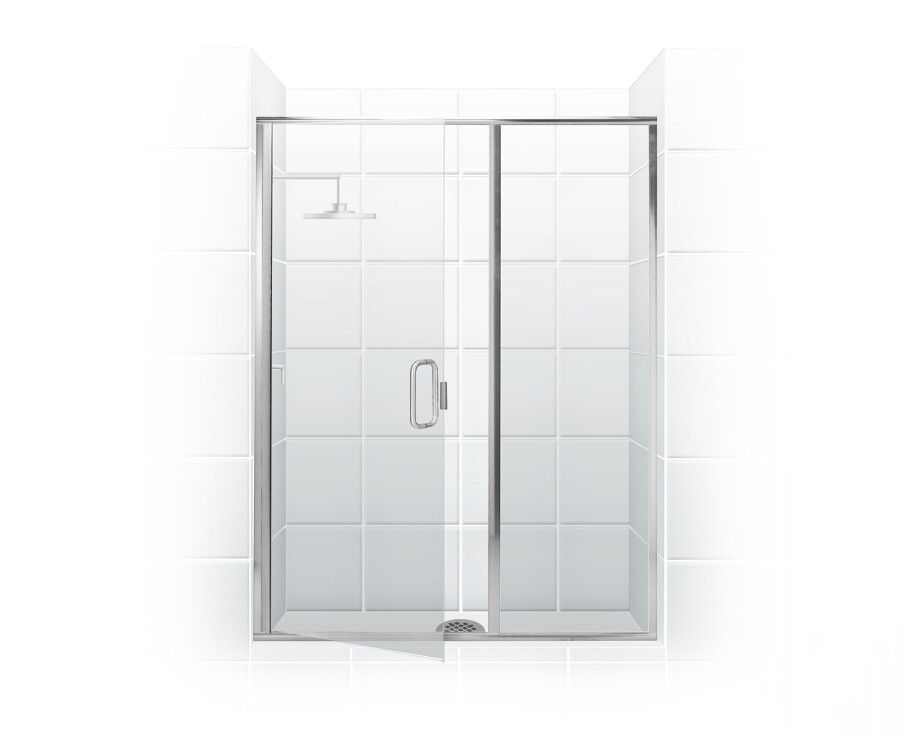 Paragon Series Semi Frameless Shower Door With Through Glass C Pull Handle Swing Door Inl Framed Shower Enclosures Semi Frameless Shower Doors Shower Doors