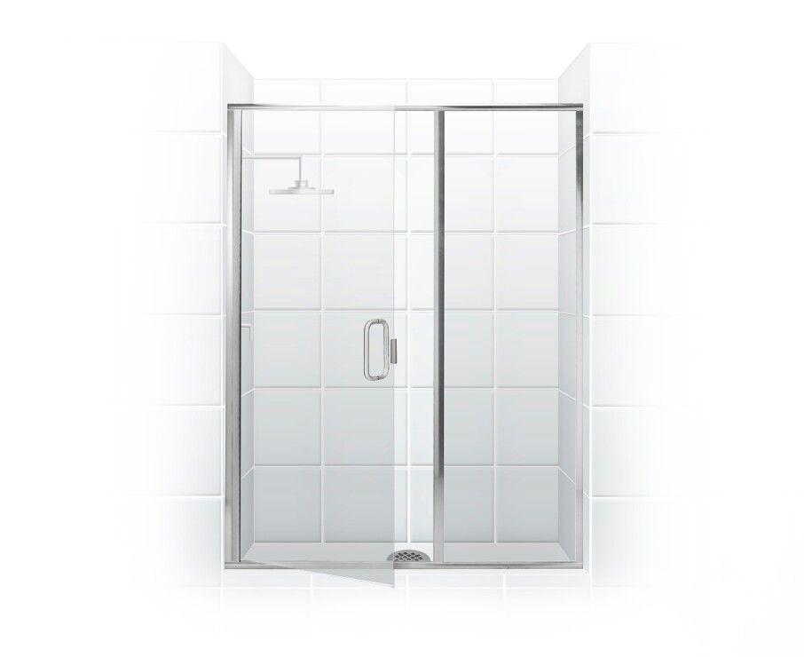 Paragon Series Semi Frameless Shower Door With Through Glass C Pull Handle Swing Door Inl Framed Shower Enclosures Semi Frameless Shower Doors Shower Doors