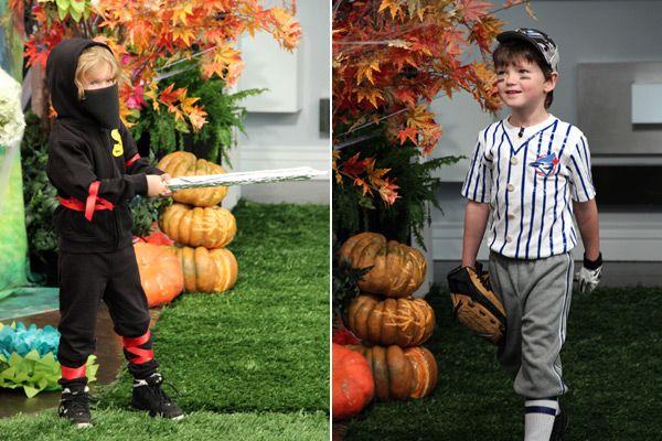 "Sweatsuit Ninja, ""T"" Ball Player costumes"