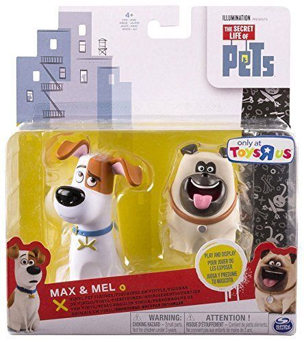 The Secret Life Of Pets Max Mel Vinyl Pet Figure 2 Pack Secret Life Of Pets Pet Max Vinyl Figures
