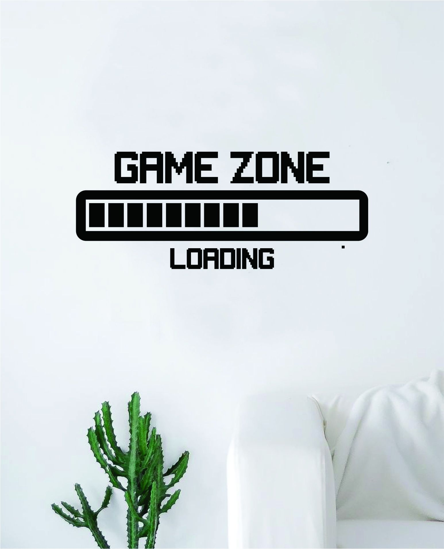 Photo of Game Zone Loading Quote Wall Decal Sticker Bedroom Room Art Vinyl Home Decor Inspirational Teen Video Gaming Gamer – white