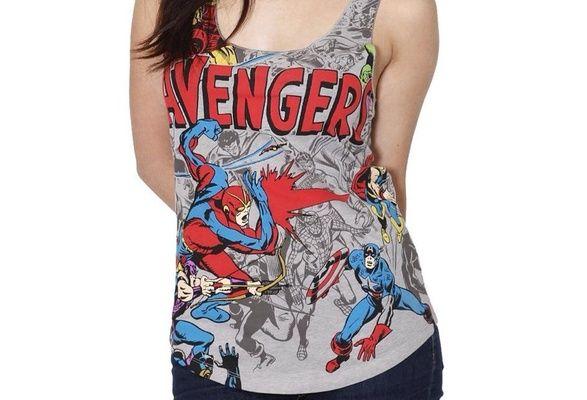 The Avengers Comic Book Tank Top