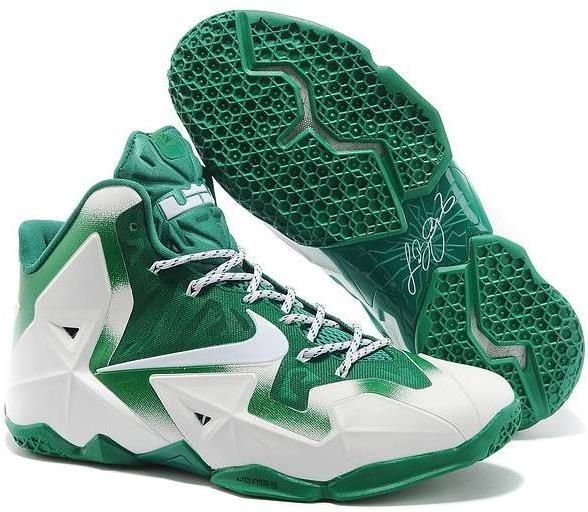 Buy Nike LeBron 11 \u201cMichigan State\u201d PE White Green For Sale New Arrival  from Reliable Nike LeBron 11 \u201cMichigan State\u201d PE White Green For Sale New  Arrival ...