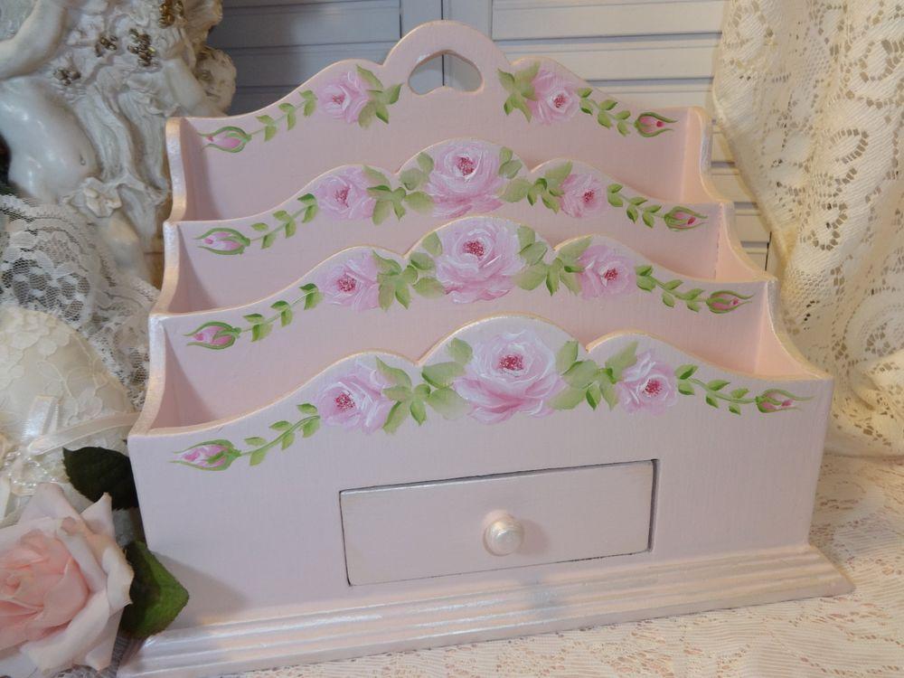FLIRTY PINK ROSE ORGANIZER  Available on ebay!!  Artist D.Sommers   seller I.D. sunny-sommers