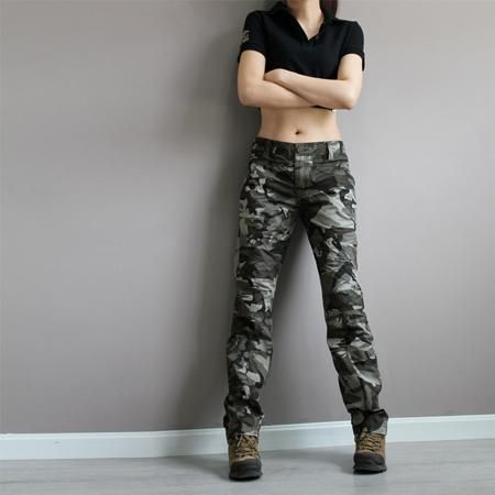 new fashion plus size camouflage trousers camo pants for women