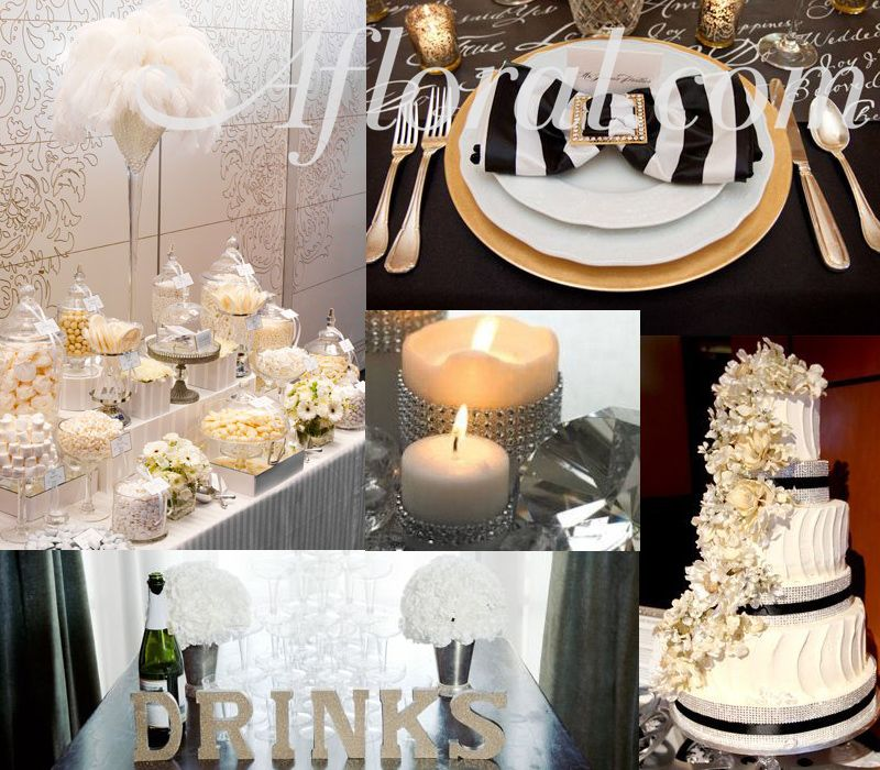 Old Hollywood Wedding Decor Glitz Glamour With Golds Rhinestones And Feathers Oldhollywood