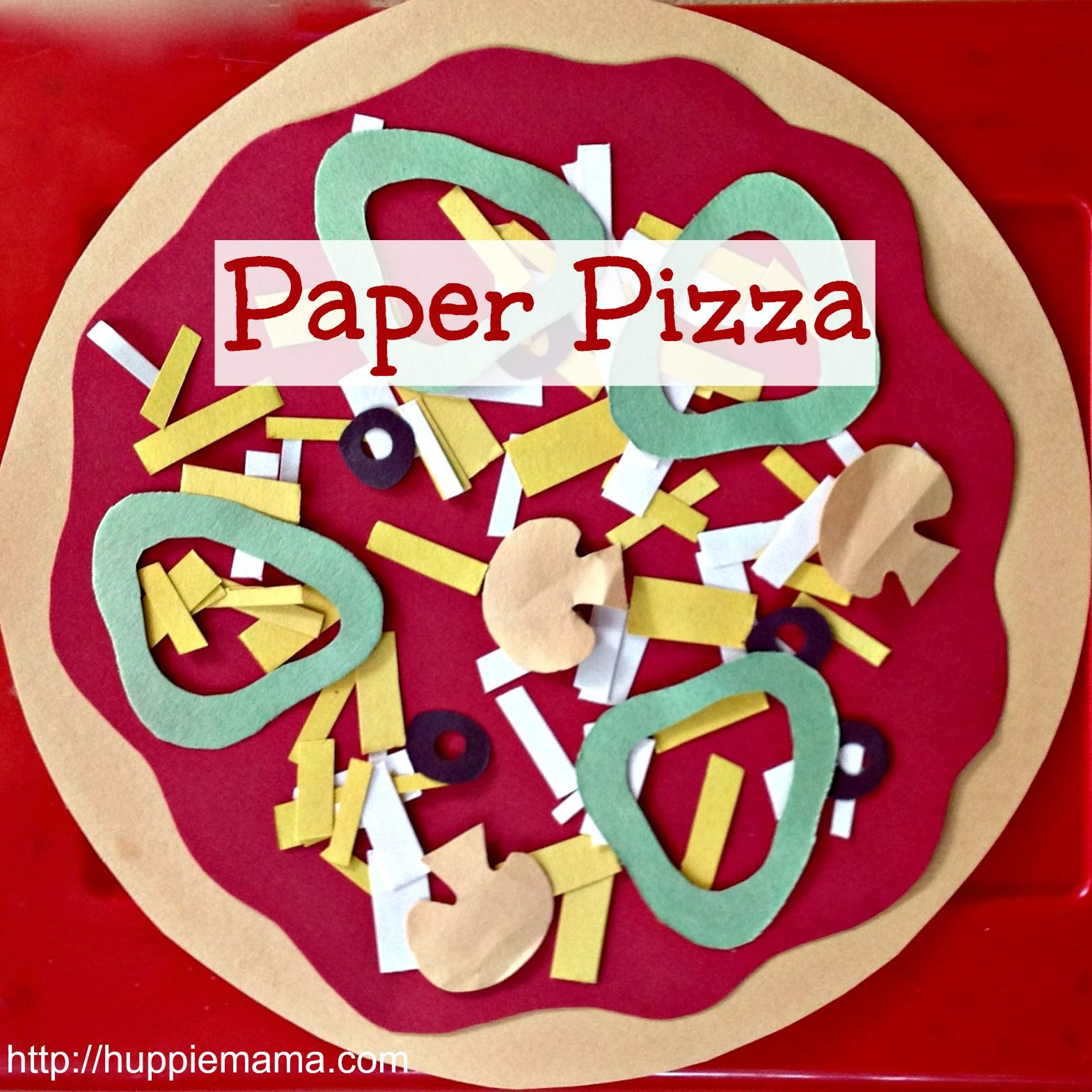 Kids Food Craft Paper Pizza With Images