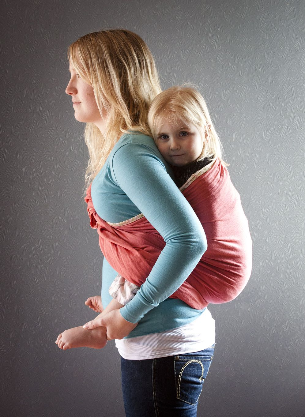 Successful back carry using a ring sling ) New baby