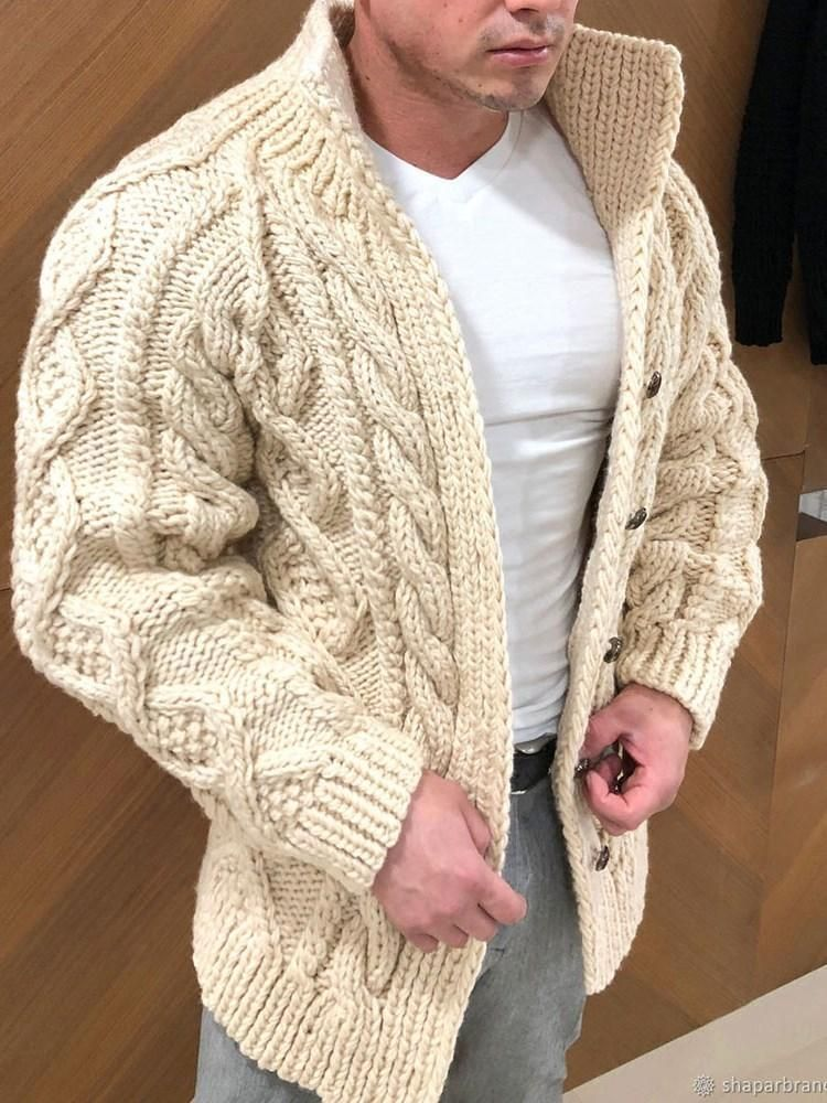 Standard Turtleneck Plain Casual Winter Sweater in 2020