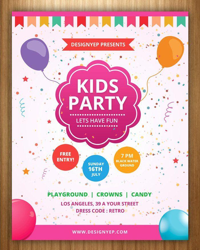 Birthday Invitation Template Photoshop Fresh Free Birthday Party I Kids Birthday Party Invitations Free Birthday Invitation Templates Free Birthday Invitations