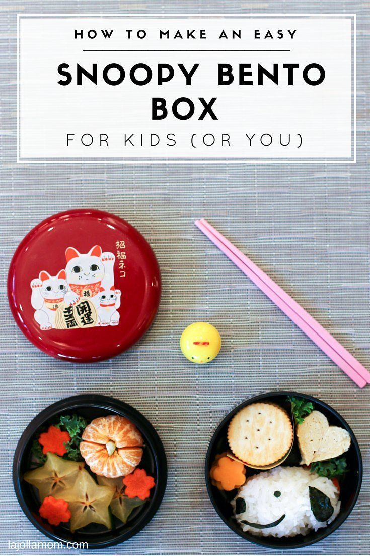 Easy Snoopy Bento Box Lunch Idea #bentoboxlunch